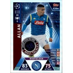 Allan Group Stage Record-Holder UP178 Match Attax Champions 2018-19