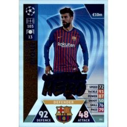 Gerard Piqué UCL Group Stage Hero UP202 Match Attax Champions 2018-19
