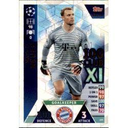 Manuel Neuer 100 Club XI UP209 Match Attax Champions 2018-19