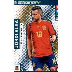 Jordi Alba Fans Favourite 244 Adrenalyn XL Road To Uefa Euro 2020