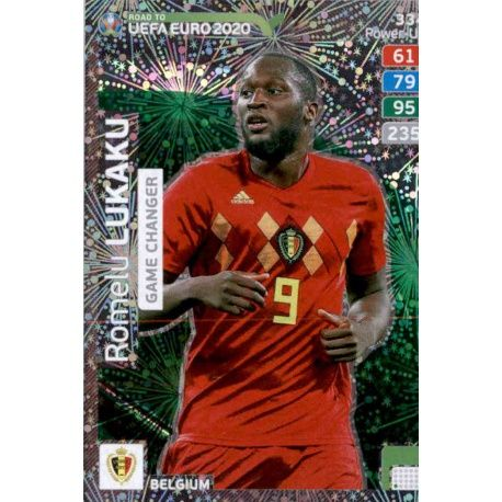 CARD PANINI ADRENALYN ROAD TO EURO 2020 N.334 LUKAKU BELGIUM GAME CHANGER