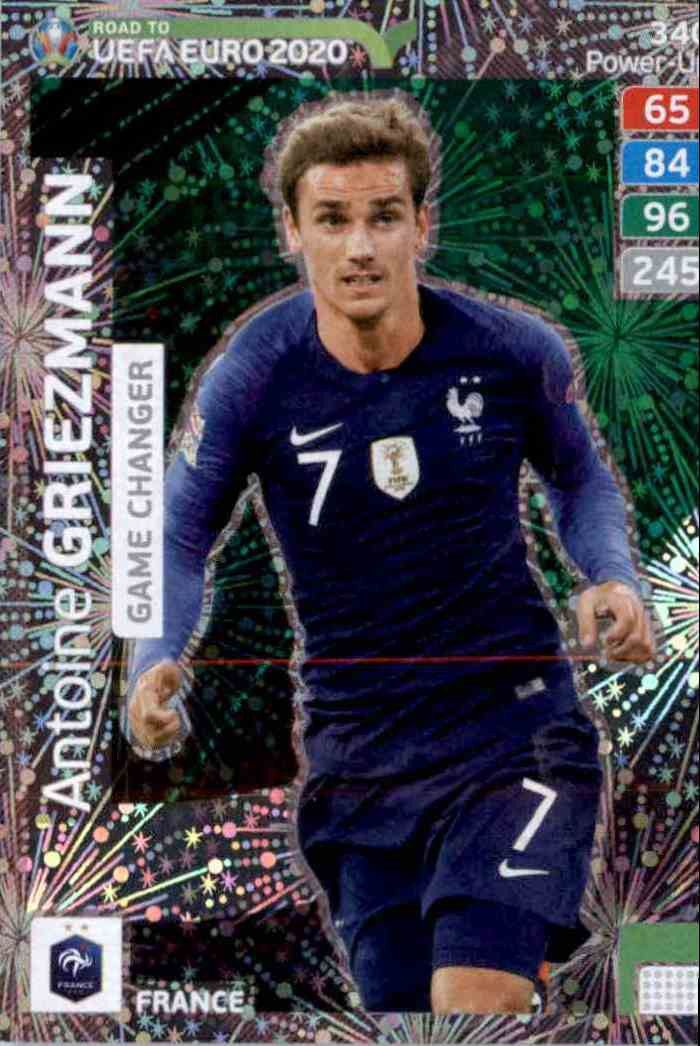 PANINI ROAD TO UEFA EURO 2020 POWER-UP GAME CHANGER LUKAKU GRIEZMANN DEPAY KING