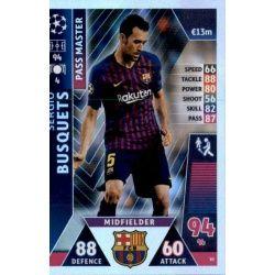Sergio Busquets - Pass Master Barcelona 10 Match Attax Champions 2018-19