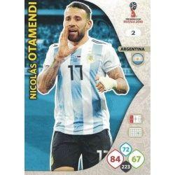 Nicolás Otamendi Argentina 2 Adrenalyn XL World Cup 2018