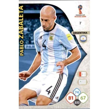 Pablo Zabaleta Argentina 7 Adrenalyn XL World Cup 2018