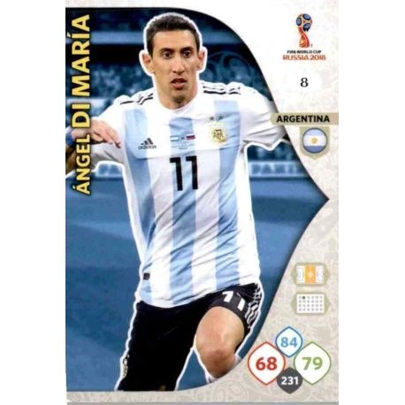 Ángel Di Maria Argentina 8 Adrenalyn XL World Cup 2018