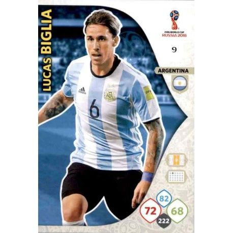 Lucas Biglia Argentina 9 Adrenalyn XL World Cup 2018