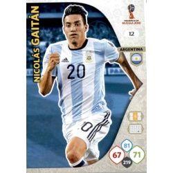 Nicolás Gaitán Argentina 12 Adrenalyn XL World Cup 2018
