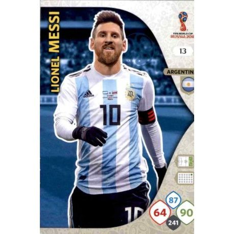 Lionel Messi Argentina 13Adrenalyn XL Russia 2018