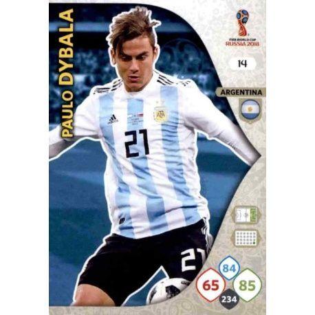 Paulo Dybala Argentina 14 Adrenalyn XL Russia 2018