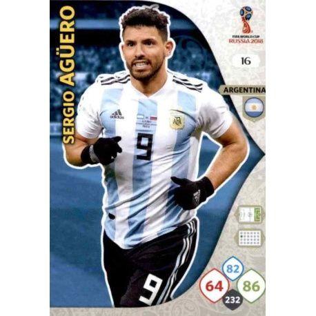 Sergio Agüero Argentina 16 Adrenalyn XL Russia 2018