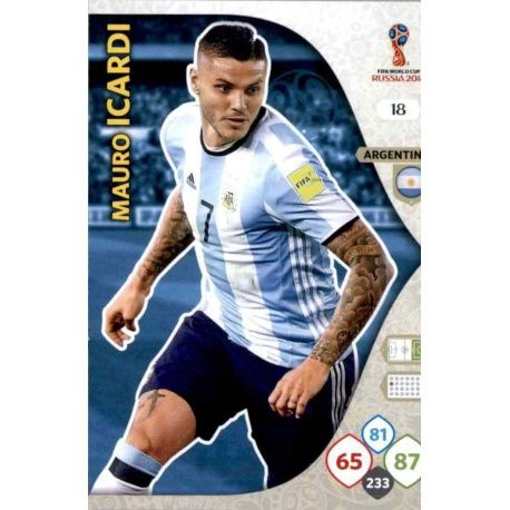 Mauro Icardi Argentina 18 Adrenalyn XL World Cup 2018