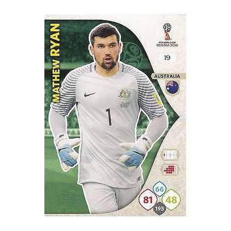 Mathew Ryan Australia 19 Adrenalyn XL Russia 2018