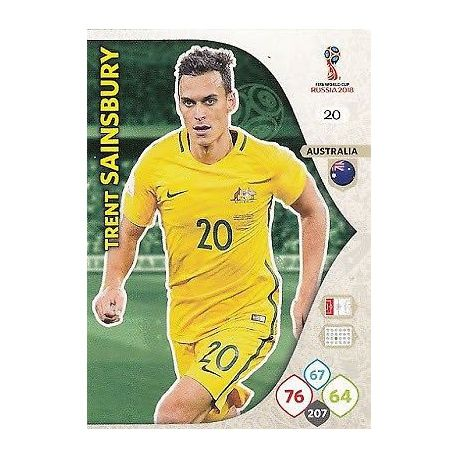 Trent Sainsbury Australia 20 Adrenalyn XL World Cup 2018