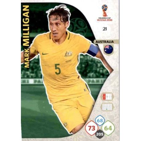 Mark Milligan Australia 21 Adrenalyn XL World Cup 2018