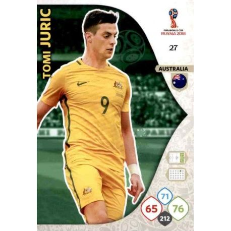 Tomi Juric Australia 27 Adrenalyn XL World Cup 2018