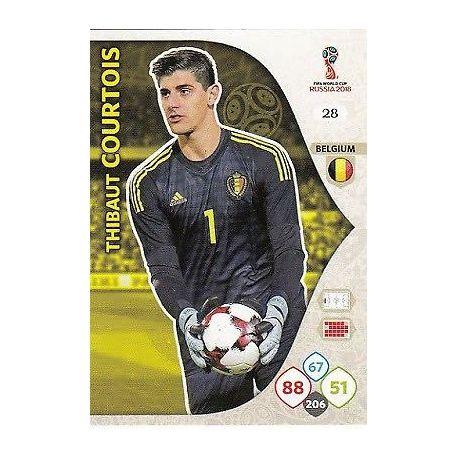 Thibault Courtois Bélgica 28 Adrenalyn XL World Cup 2018