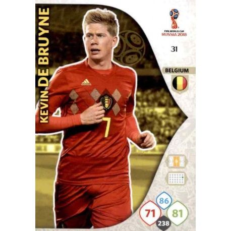 Kevin De Bruyne Bélgica 31 Adrenalyn XL World Cup 2018