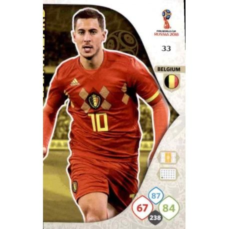 Eden Hazard Bélgica 33 Adrenalyn XL World Cup 2018