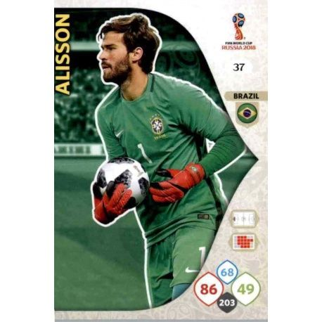 Alisson Brasil 37 Adrenalyn XL Russia 2018