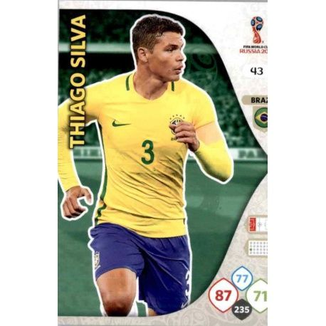 Thiago Silva Brasil 43 Adrenalyn XL World Cup 2018