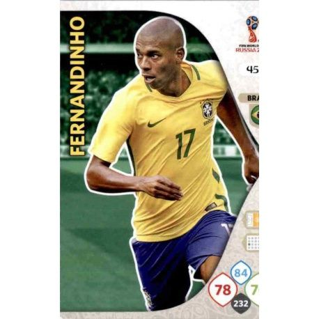 Fernandinho Brasil 45 Adrenalyn XL World Cup 2018