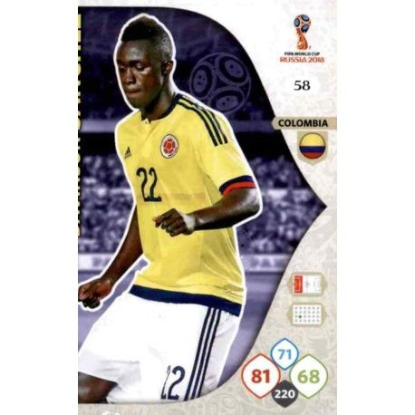 Davinson Sánchez Colombia 58 Adrenalyn XL World Cup 2018