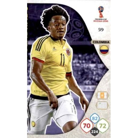 Juan Cuadrado Colombia 59 Adrenalyn XL World Cup 2018