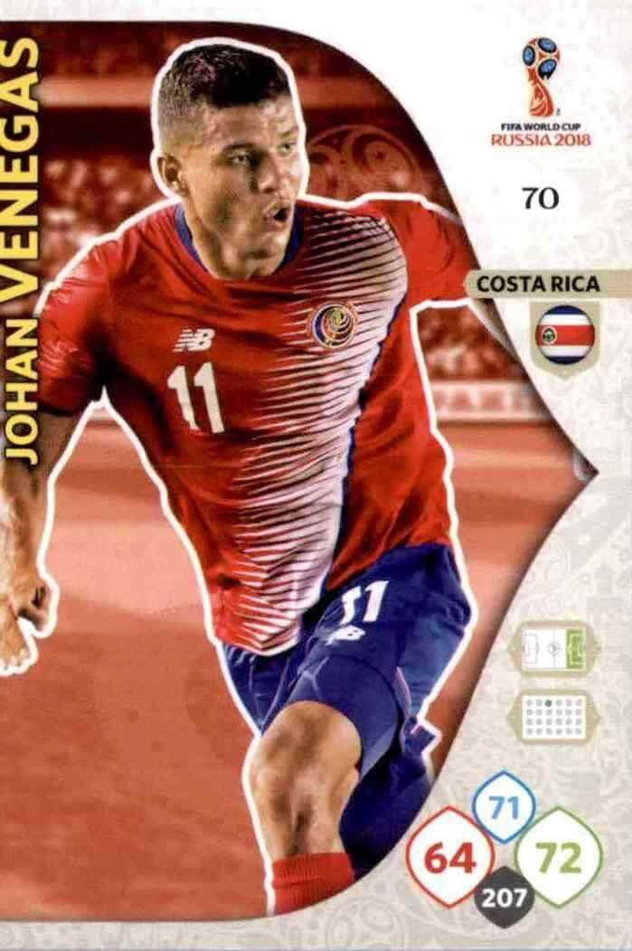 70 Panini WORLD CUP 2018 ADRENALYN XL-Johan Venegas Costa Rica no