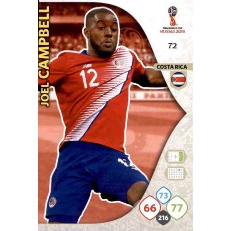 Joel Campbell Costa Rica 72 Adrenalyn XL Russia 2018