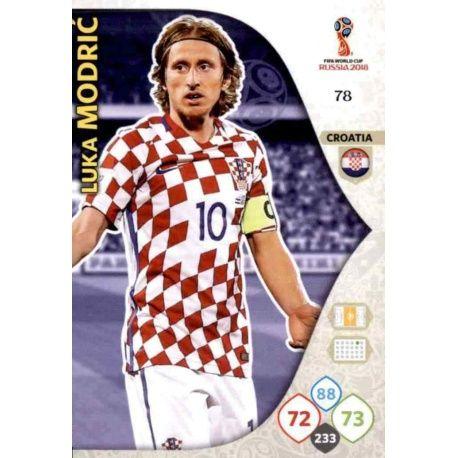 Luka Modrić Croacia 78 Adrenalyn XL World Cup 2018