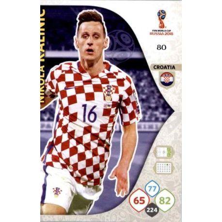 Nikola Kalinić Croacia 80 Adrenalyn XL Russia 2018