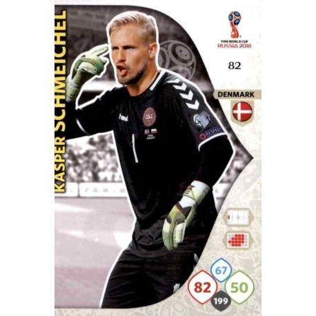 Kasper Schmeichel Dinamarca 82 Adrenalyn XL Russia 2018