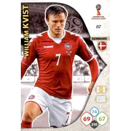 William Kvist Dinamarca 87 Adrenalyn XL Russia 2018