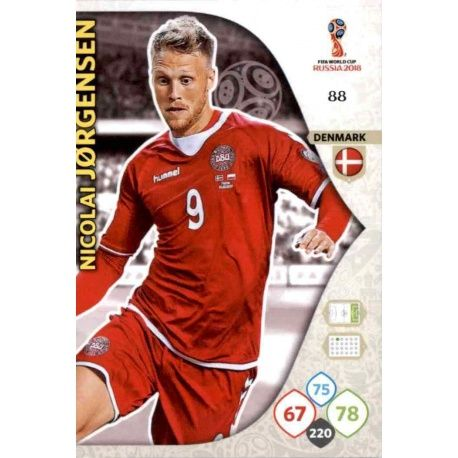 Nicolai Jørgensen Dinamarca 88 Adrenalyn XL World Cup 2018