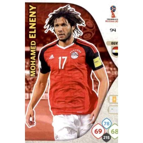 Mohamed Elneny Egipto 94 Adrenalyn XL Russia 2018
