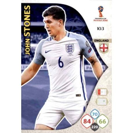 John Stones Inglaterra 103 Adrenalyn XL World Cup 2018