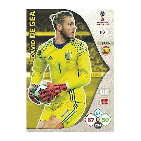 David De Gea España 118 Adrenalyn XL World Cup 2018
