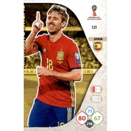 Nacho Monreal España 121 Adrenalyn XL World Cup 2018