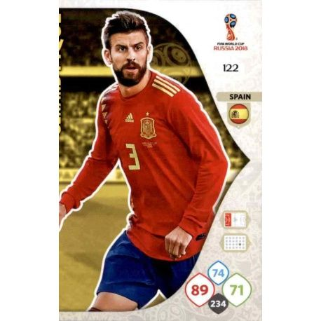 Gerard Piqué España 122 Adrenalyn XL World Cup 2018