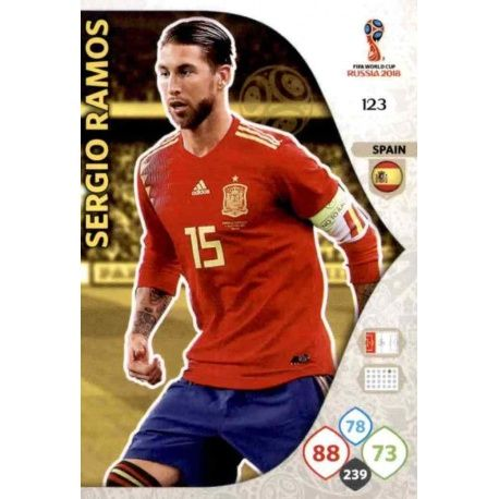 Sergio Ramos España 123 Adrenalyn XL World Cup 2018