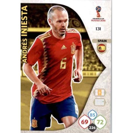Andrés Iniesta España 131 Adrenalyn XL World Cup 2018