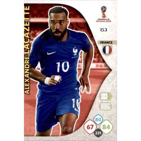 Alexandre Lacazette Francia 153 Adrenalyn XL World Cup 2018