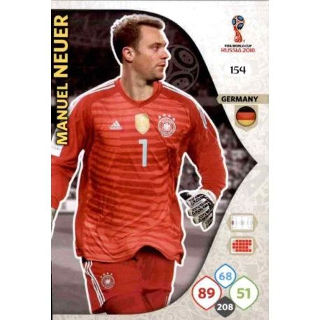 Manuel Neuer Alemania 154 Adrenalyn XL World Cup 2018