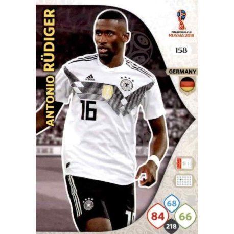 Antonio Rüdiger Alemania 158 Adrenalyn XL World Cup 2018