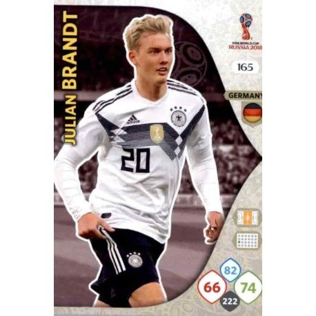 Julian Brandt Alemania 165 Adrenalyn XL World Cup 2018