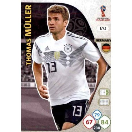 Thomas Müller Alemania 170 Adrenalyn XL Russia 2018