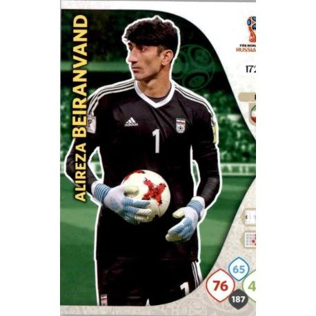Alireza Beiranvand Irán 172 Adrenalyn XL World Cup 2018