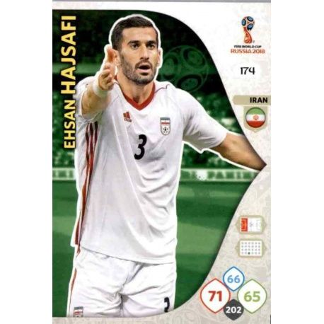 Ehsan Hajsafi Irán 174 Adrenalyn XL World Cup 2018