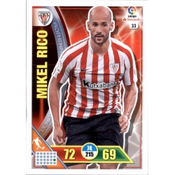 Mikel Rico Athletic Club 33 Adrenalyn XL La Liga 2016-17